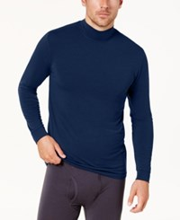 32 Degrees Men's Base Layer Turtleneck Shirt Navy