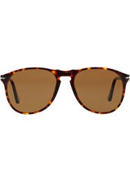 Persol Polarised Aviator Sunglasses Brown