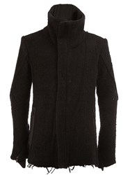 A New Cross Stand Up Collar Jacket Black