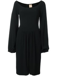 Pascal Millet Bell Sleeve Knee Length Dress Black