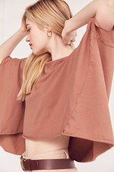 Truly Madly Deeply Around The World Dolman Sleeve Tee Brown