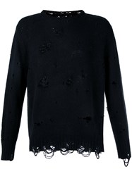 The Soloist Destroyed Jumper Black
