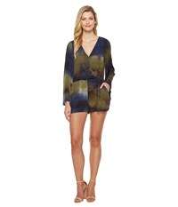 Culture Phit Alva Bell Sleeve Romper Olive Navy Women's Jumpsuit And Rompers One Piece Multi