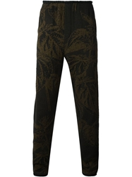 Stephan Schneider Embroidered Jacquard Trousers Brown