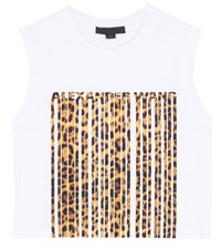 Alexander Wang Printed Cotton Crop Top White