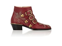 Chloe Women's Suzanna Ankle Boots Red Burgundy