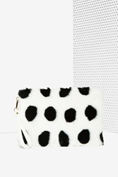 Nasty Gal Polka Your Competition Fur Clutch
