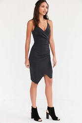 Silence And Noise Silence Noise Side Ruched Bodycon Dress Black
