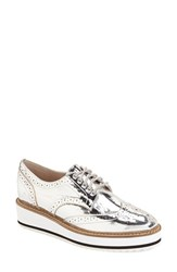 Women's Shellys London 'Emma' Platform Oxford Silver Leather