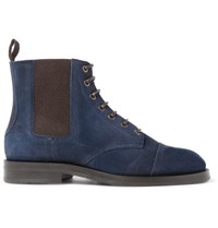 Jimmy Choo Jules Waxed Suede Boots Blue