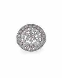 Diana M. Jewels 18K White Gold Round Diamond Cocktail Ring