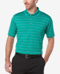 Pga Tour Men's Big And Tall Airflux Striped Golf Polo Pepper Green