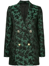 Mother Of Pearl Baroque Patterned Blazer Green