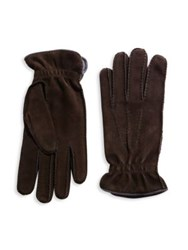 Brunello Cucinelli Lamb Leather Gloves Blue Grey Chocolate