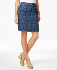 Karen Scott Printed Denim Skort Only At Macy's