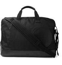 Dunhill Radial Leather Trimmed Canvas Holdall Black