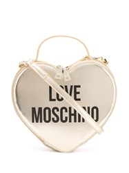 Love Moschino Heart Shape Logo Tote Gold