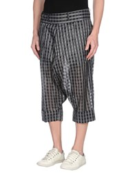 John Galliano Trousers 3 4 Length Trousers Men Grey