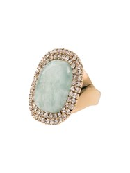 Rosantica Blue Stone Crystal Ring Gold
