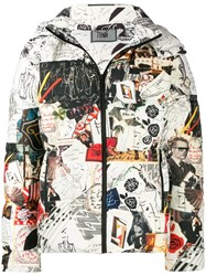 Fendi Karl Kollage Reversible Jacket White