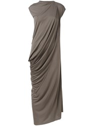 Rick Owens Lilies Wrap Detail Dress Grey