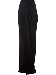 Lanvin Draped Floor Length Skirt Black