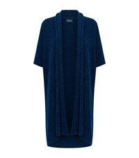 Eskandar Long Sleeveless Cardigan Female Blue