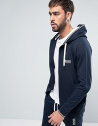 Boss By Hugo Hooded Sweat Top With Logo Navy