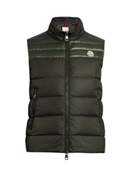 Moncler Dupress Quilted Down Gilet Dark Green