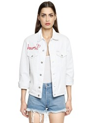 Forte Couture Amore Embroidered Cotton Denim Jacket