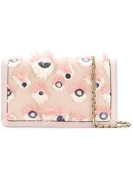 Casadei Peacock Clutch Bag Pink And Purple
