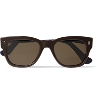 Elton John Aids Foundation Cutler And Gross Two Tone D Frame Sunglasses Brown
