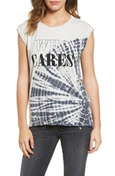 Pam And Gela Women's Frankie Who Cares Tie Dye Tee