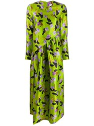 Christian Wijnants Floral Print Midi Dress Green