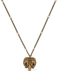 Gucci Aries Motif Chain Necklace Gold
