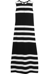 Calvin Klein Collection Striped Stretch Knit Dress Black