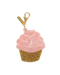 Edie Parker Glittered Cupcake Bag Charm Pink Pink Multi