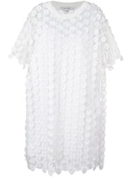 Carven Lace T Shirt Dress White