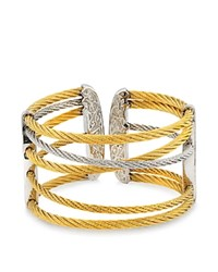 Alor Yellow And Gray Cable Cuff Gold Silver