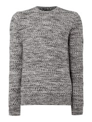 Label Lab Burke Multicoloured Crew Neck Jumper Ecru