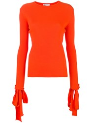 J.W.Anderson Jw Anderson Tied Sleeve Sweater Yellow And Orange