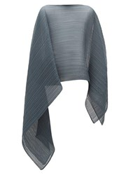 Issey Miyake Pleats Please Madame T Technical Pleated Scarf Navy