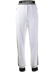 Dolce And Gabbana Logo Tape Track Pants White