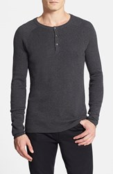 Men's Vince Camuto Henley Sweater Heather Charcoal