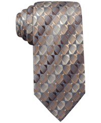 John Ashford Mini Geo Ii Tie Only At Macy's Taupe