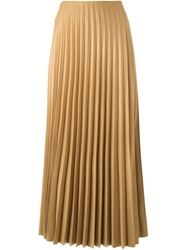 Petar Petrov Pleated Skirt Brown