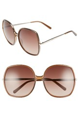 Chloe Women's 62Mm Oversized Gradient Lens Square Sunglasses Brown