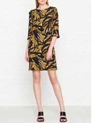 Hobbs Chrissie All Over Printed Dress Gold