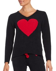 Betsey Johnson Patterned Knit Sweater Onyx