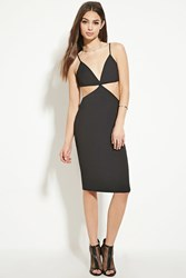 Forever 21 Cutout Bodycon Dress Black